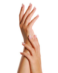 Manicured Hands Holding Candle Stock Photo - Image: 10151660